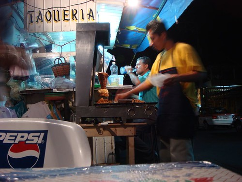 Taco factory in Matías Romero.