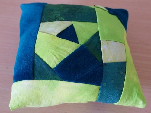 Green square pincushion