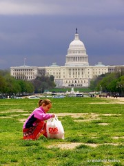 Picking up trash on Earth Day (National Capital Building)
