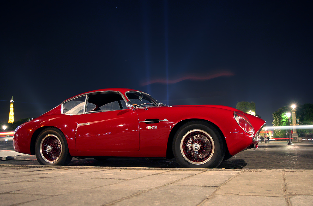 Picture of stylish Retro car Aston Martin DB4GT ZAGATO