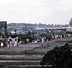 1969 - Preserved Locos at Longmoor (Robert Gadsdon) Tags: 1969 geotagged lmr blackprince 92203 longmoor 41298 75029 geo:lat=51074639 geo:lon=0861139