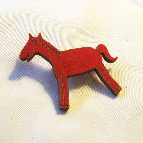 Felt Pony Pin.