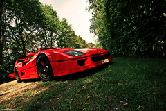 F40. (Denniske) Tags: red netherlands car canon rouge eos cross angle wide dream nederland sigma super ferrari exotic f processing vehicle 40 nl dennis process 1020mm legend rood rosso processed supercar jumbo f40 the noten dreamcar f456 veghel rt exclusief 400d denniske