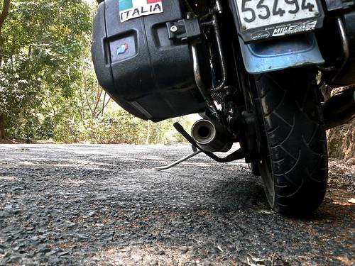 la mia motoguzzi nel viaggio in guatemala
