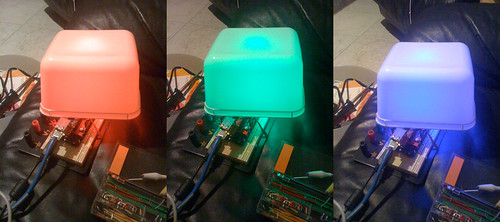 RGB Ethernet Arduino, in use