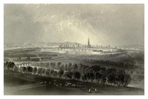 020- Viena vista desde el otro lado del Glacis 1844