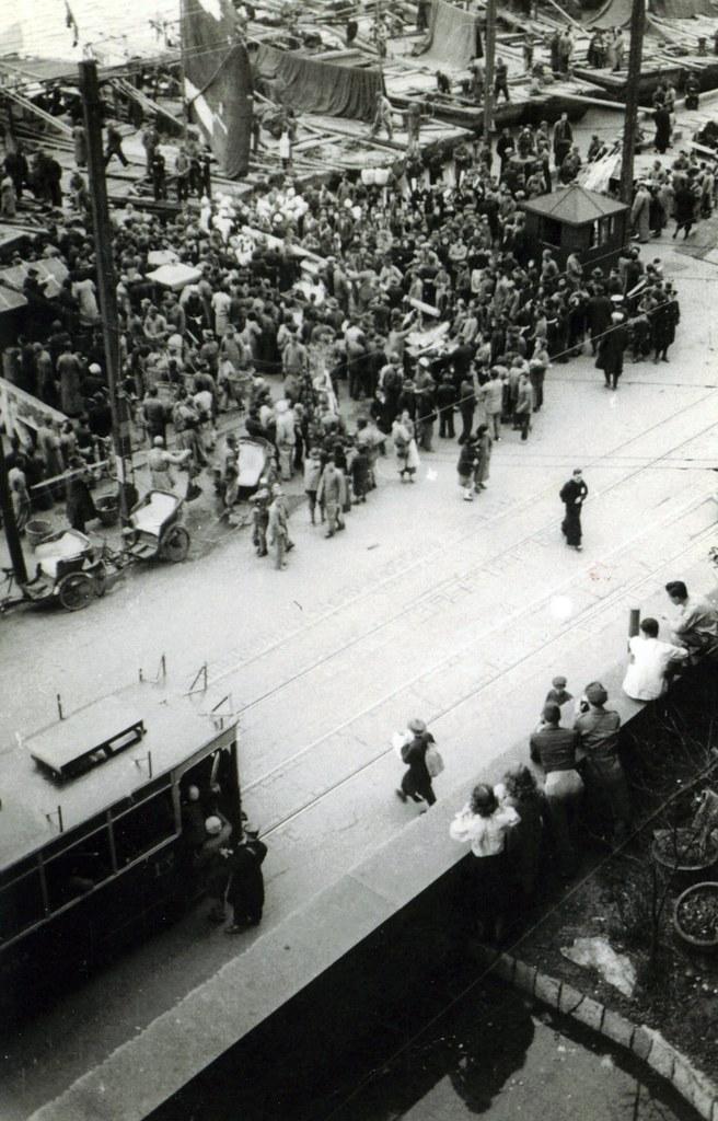 street scene/ceremony , Shanghai, 1947