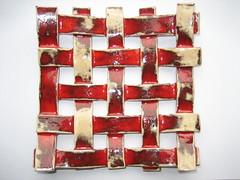 006-03 Geweven kleistroken (Inge De Wit) Tags: ceramics ika keramiek ingedewit