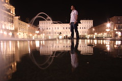silkscreen (maybemaq) Tags: urban italy black reflection water night square torino lights aquarium exposure italia darkness geometry palace symmetry silkscreen piazza palazzo reflexions turin breathtaking nightwalk foutain waterreflection maybemaq