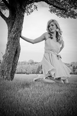 Tena Her Designs Summer Solstice (StareDownMeg) Tags: blue cute green field fashion yellow daisies model flirt path makeup blond blonde daisy fields summerdress flirty gravel fashiondesign gravelpath modelmayhem tenaher flirtsy