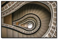 Black Madonna Stairs, Prague (Mike G. K.) Tags: architecture stairs geotagged spiral republic view czech prague geometry border steps rail praha stairway staircase frame fractal railing effect height houseoftheblackmadonna geomoetric geo:lat=50087071 geo:lon=14425564