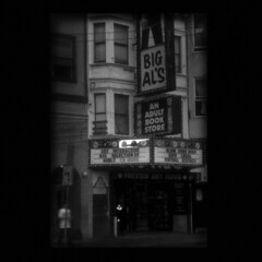 north beach stakeout (wide) (B.S. Wise) Tags: sanfrancisco blackandwhite bw art sign photo noir adult bigals broadway ishootfilm dirty bookstore grainy flickrcentral redlight vignetting vignette sgns hangout bradwise lynched bradswise fauxvintage lowfidelity stakeout thespot cinematicmoments hammett melkor signcity sfflickrsocial lucidmysterious filmisnotdead noircity chaosinthesoul incoloro sfchronicle96hrs urbanfragmentsnopeople the{subtextual}imageunderground cahiersducinéma narrativephotos sinisterphotography sanfranciscolocalsonly kubrickslook daylighthorror fakemoviestills bswise livinginblackandwhite cityskiporg streetsofmine sfbayareashooterssfbas däyfornight blackwhitephotoszapraszamchallengeofthemonth invisablemood theheartosaturdaynight continuesframes theurbanjungles storiesretoldrearwindowchapter representationistoartaswaristothestate blackwhitepassionpostandcommentorinvitesomeone cbargarageoutdoorurbanphotosonlypost1award1 texturedngrainyjulycontest sfstorefronts watchinthedetectives