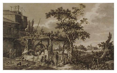 007- Jardin en la isla de Scio-Voyage pittoresque de la Grèce 1782
