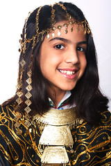 beauty of Kuwait (explored) (Ghadeer Q) Tags: portrait heritage girl smile kids canon gold middleeast explore arab kuwait tradition mariam arabiangulf homestudio canon24105