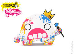 Lil King Gami (Dolly Oblong) Tags: paper dolly dollies gami designertoy cmyk freedownload papertoy dollyoblong lilkinggami pimpit3d