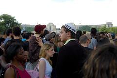 ... (Yoav) Tags: white tower dead tour eiffel jew michaeljackson fans hundreds kippa  yarmulka