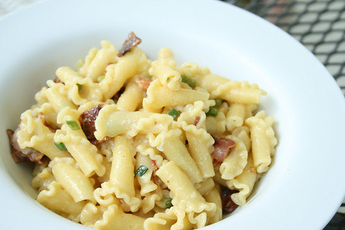 Garlic Scapes Carbonara