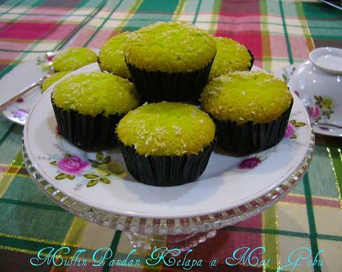 Muffin Pandan Kelapa