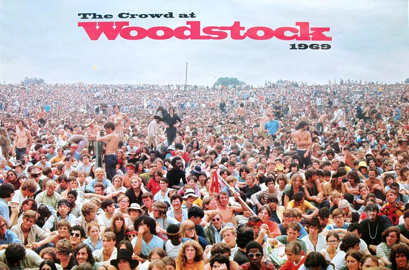 What defines a Baby Boomer? How about if you were old enough to contemplate hitching to Woodstock. Even if you were just 15 and you had a curfew. Poster photo: Shelly Rusten.