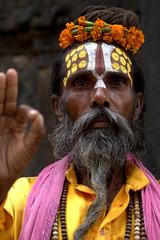 An Intense Sadhu Stare (El-Branden Brazil) Tags: nepal asian asia kathmandu nepalese hindu hinduism mystic sadhu holyman saddhu nepali