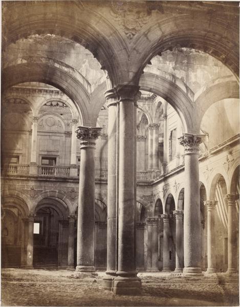 Alcázar de Toledo en 1857. Fotografía de Charles Clifford. © Victoria and Albert Museum, London
