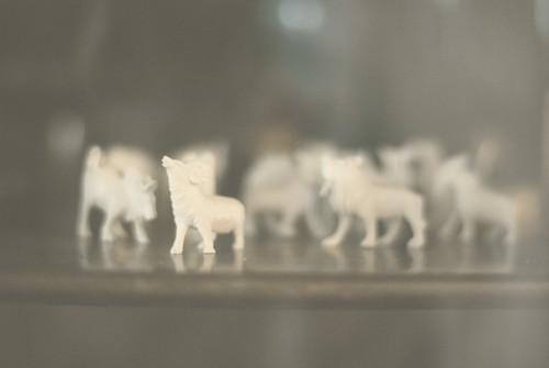 Ivory Figurines (by pricklypearbloom)