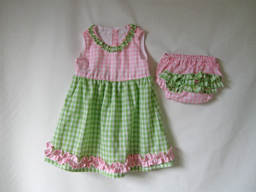 Pinkgreen baby dress