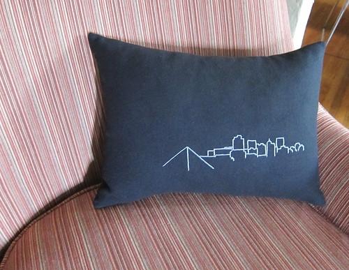 Day 9 - Another Memphis Skyline Pillow