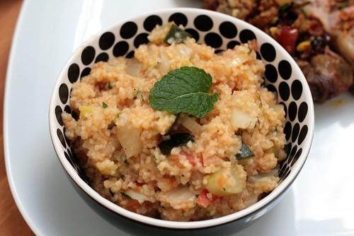 Bulgur aux légumes & à la menthe