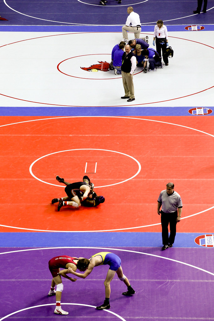 State Wrestling Day 1: From above