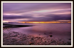 Cockenzie Bay 1- Tonemapped (blue fin art- 2 Million Views. Thank You!) Tags: longexposure sunset seascape water scotland edinburgh purple forth cockenzie sigma1020 canon450d bwnd
