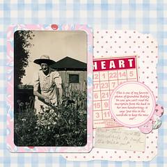 Grandma Balsley (Sunny Days) Tags: pink grandma digital scrapbook layout load