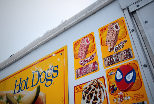 hot dogs and spiderman