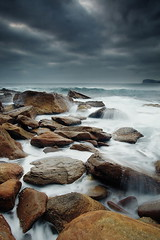 Overcast (Tim Donnelly (TimboDon)) Tags: ocean sea rocks australia nsw barrenjoey cokin fineartphotos