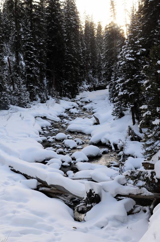 Hiking to Ousel Falls in February