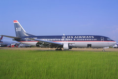 US Airways Boeing 737-401 N415US (AV8NLVR) Tags: airplane airport aircraft aviation jet greenwood boeing 737 canond30 stockphoto usair usairways 737400 gwo 737401 kgwo n415us greenwoodleflore bruceleibowitz