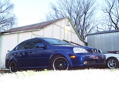 freshly waxed (aluminum falcon) Tags: blue oklahoma 2004 royal suzuki custom forenza stilwell