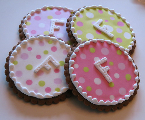 Dotty Monogram Cookies