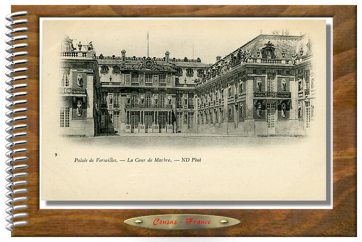 Palais de Versailles. - La Cour de Marbre