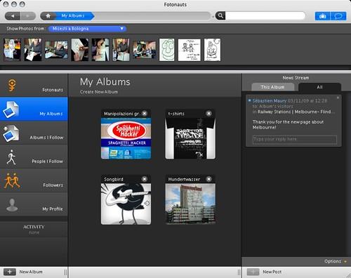 Fotonauts.app in azione