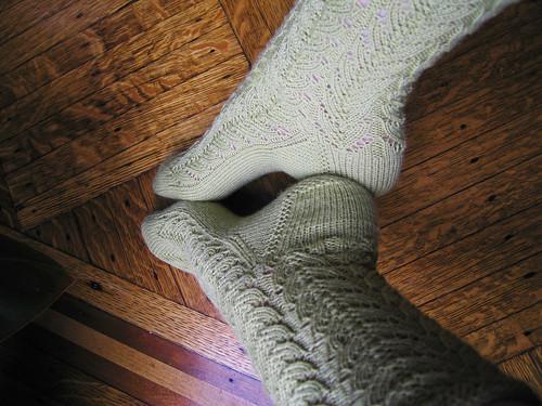 Green Lace Socks 7