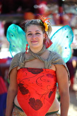 Red and Blue Fairy (gbrummett) Tags: camera arizona sexy festival canon wonderful pose lens amazing cool wings pretty mark 85mm posing az fair x medieval lass fairy ii l ren faire 5d 2009 renaissance fes f12 haza hazar