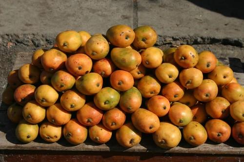 Mini mangos in San Jorge, Nicaragua...