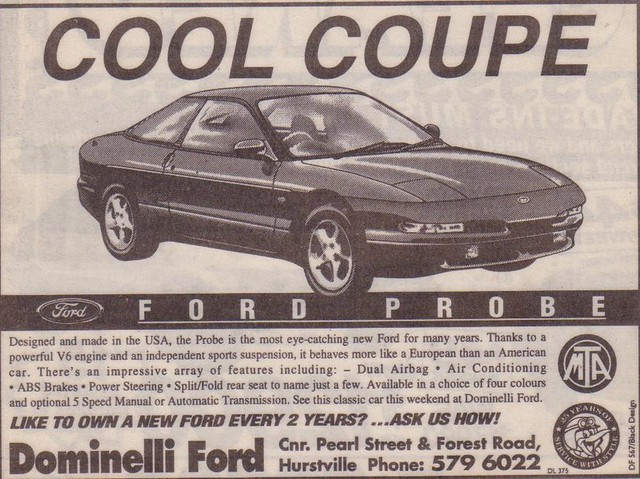 ford probe 1993 coupe