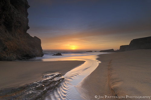 Sunset at Panther Beach - Davenport, California
