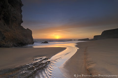 Sunset at Panther Beach - Davenport, California (Jim Patterson Photography) Tags: ocean california longexposure sunset sea sky santacruz seascape beach clouds landscape coast rocks stream pacific shoreline highway1 coastal shore coastline davenport panther majors pacificcoasthighway pantherbeach nikkor1224mm nikond300 beneathblueseas beneathblueseascom jimpattersonphotography goldendiamondblog jimpattersonphotographycom seatosummitworkshops seatosummitworkshopscom