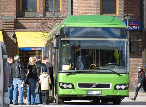 Volvo hybrid bus in Helsinki