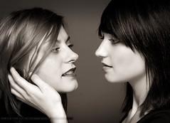 Ivana & Ira (m8bilder) Tags: portrait woman face sepia studio gesicht portrt frau 2009 watermark frauen wasserzeichen wwwm8bilderde dontstealmywork