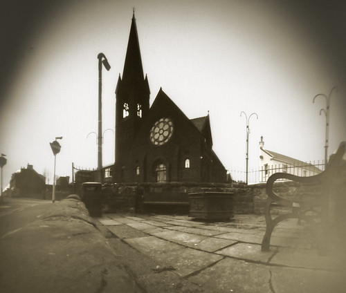 St Andrews church West Kilbride pinhole image on paper