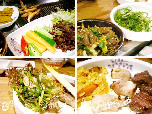 eating korean barbecue